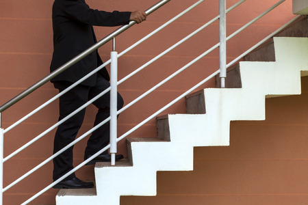 up stair: businessman is going up stair