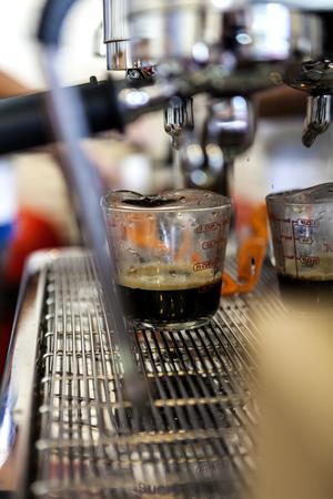 admixture: hot coffee from coffee machine