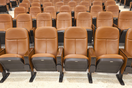 leather foldable seats in rows