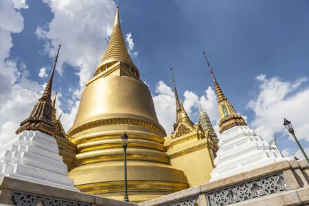 golden pagoda at Temple of rayal palace, Bangkok, Thailand