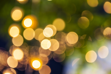 beautiful round light bokeh background at night