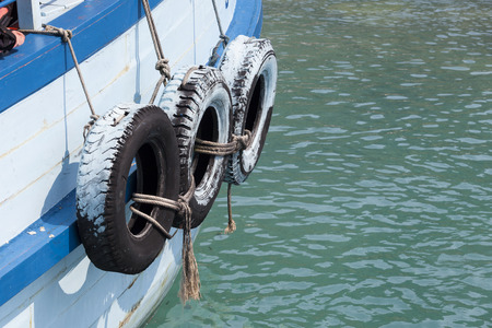 boat bumpers made of used car tires