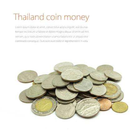bronz: Coins on white background