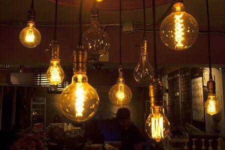 vintage style tungsten lamps 版權商用圖片