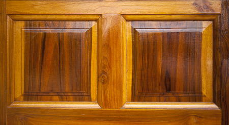 lacquer: squares carv pattern on lacquer wooden door, Stock Photo