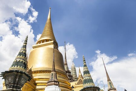 beautiful pagodas in Rayal  temple, Bangkok, Thailand 免版税图像