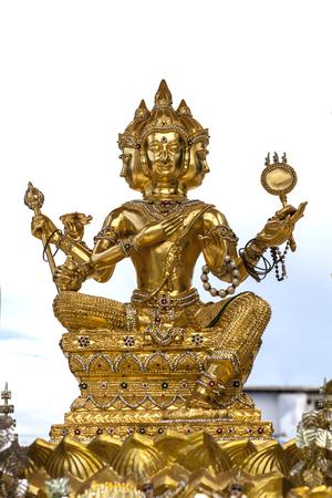 golden Brahma image, Brahman statue
