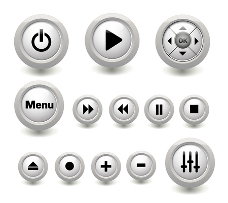 player controls: Video Play media web buttons