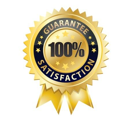 100 garantie tevredenheid badge