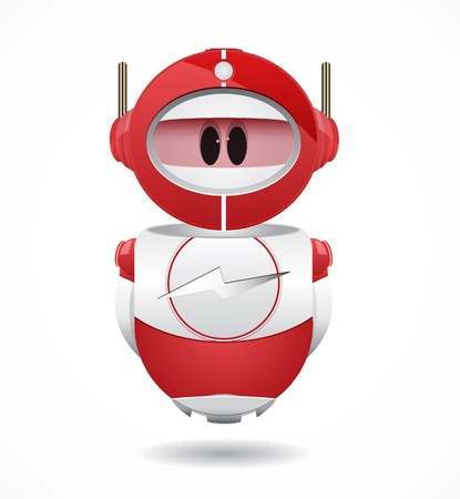 4iU Red Robot with flash sign Vector