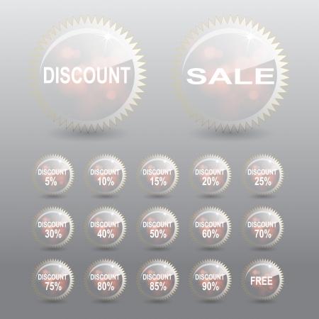 Percent Tag discount transparent effect