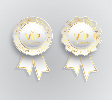 Vip sign white gold with ribbon