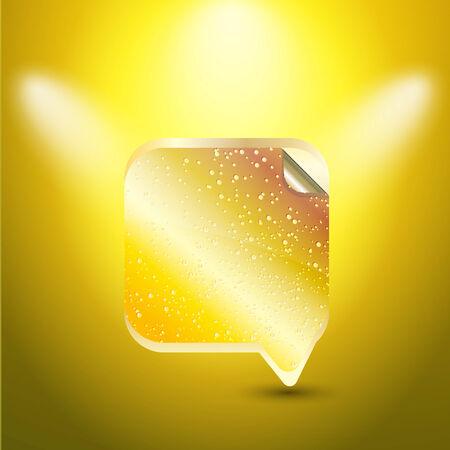 Speech bubble gold color