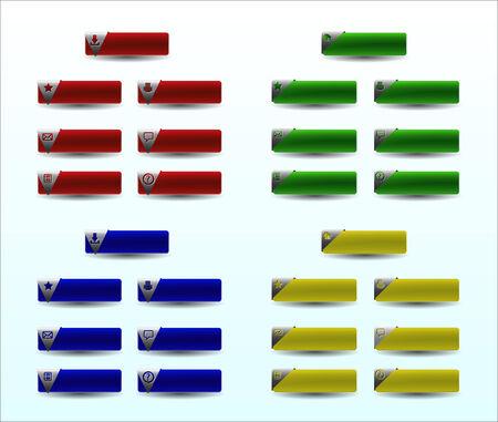 Set blank web design buttons Illustration