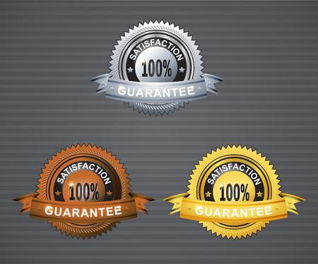 Guarantee satisfaction silver broze gold ribbon