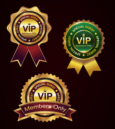 Set of vip badge Vector