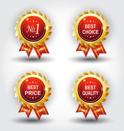 Set of best badge