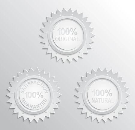 Guarantee badge paper effect