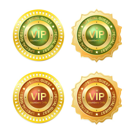 gold vip member id badge Vector