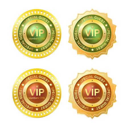 gold vip member id badge