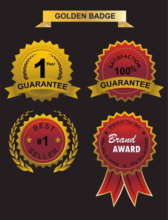 guarantee golden badge and wibbon, warranty, guarantee and no 1 brand