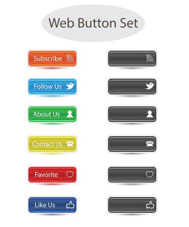 set for web button social media