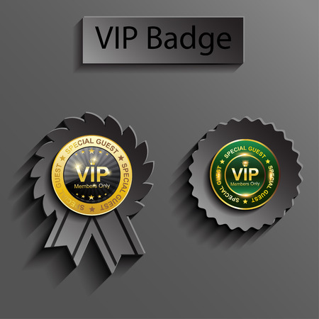 member vip sign with paper effect Vector