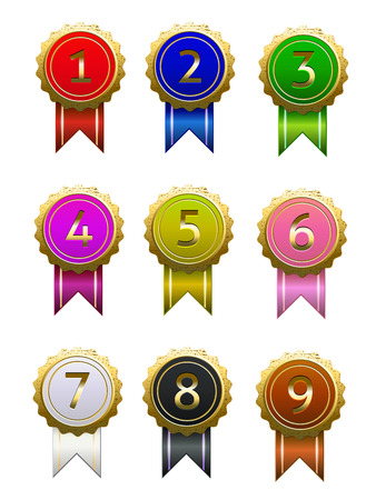 9 badge number with different color