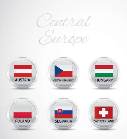central europe: A set flag of central europe Illustration