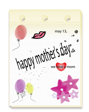 happy mother days illustration Stock Vector - 28517138
