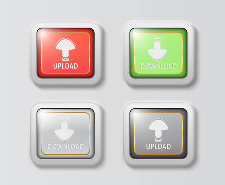 unique upload and download buttons Illustration