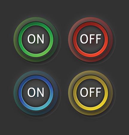 boton on off: Configurar encendido y apagado de color indiferente