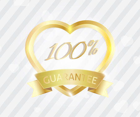 Love badge sign 100 service guarantee Vector
