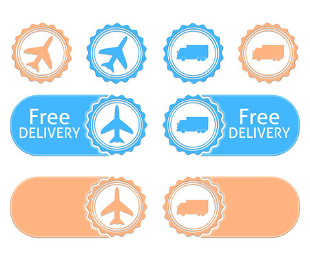 Free delivery badgeswith flat colors