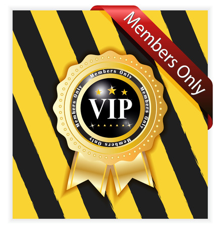 Warning sign for vip members Vector