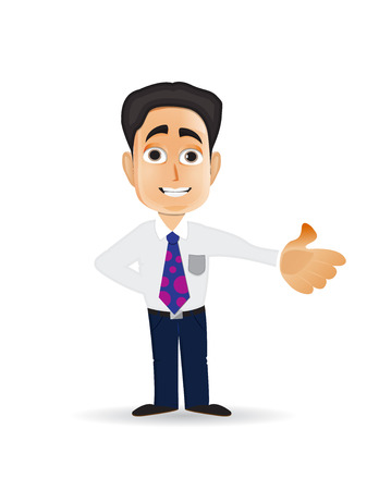 Cartoon illustration for young bussiness man