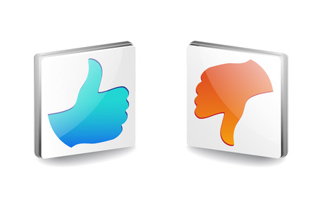 Like and dislike icon with eps file Vector