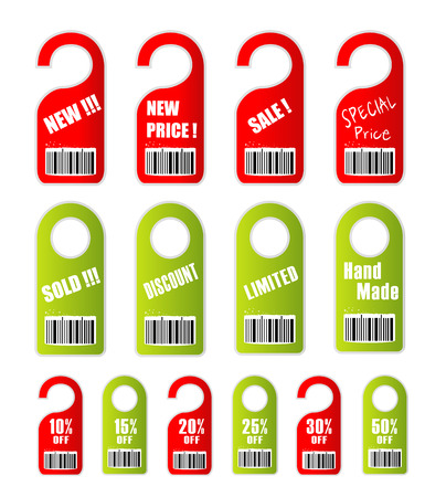 pricetag: Tag for sale, discount and lower price