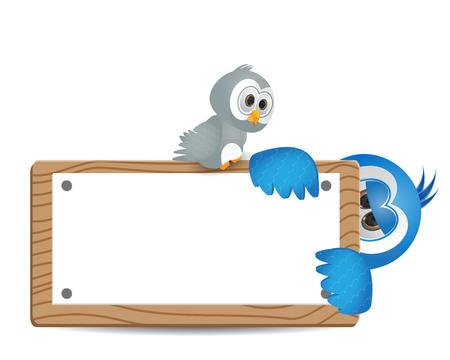 lindo poco la observación de aves aves asomó Ilustración de vector