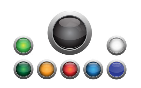 Colorful blank button set with eps file