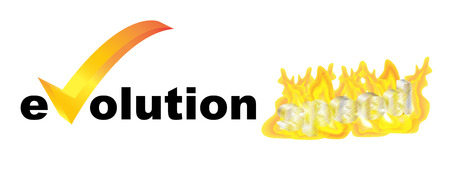 flamboyant: evolution speed text with fire effect