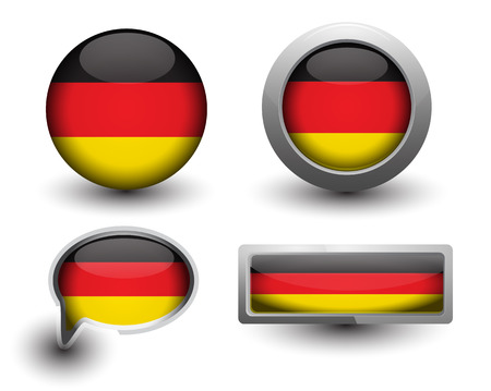 Germany flag in icons and button shape Vector