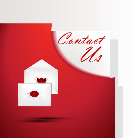 A red contact us signsymbol Illustration