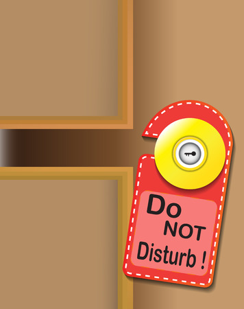 to disturb: do not disturb warning sign