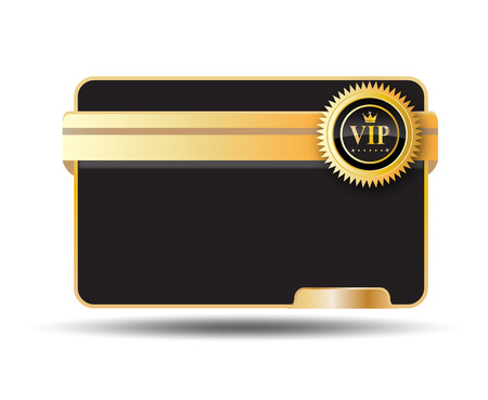luxury Vip Card Label with badge