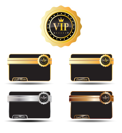 VIP Label and with color of Gold, Silver, Bronze, Premium Illustration