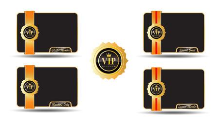 licensing: VIP Golden Labels elegant card Illustration