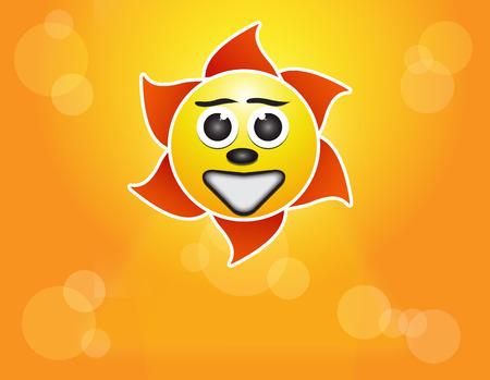 shinning: illustration sun shinning with yellow light
