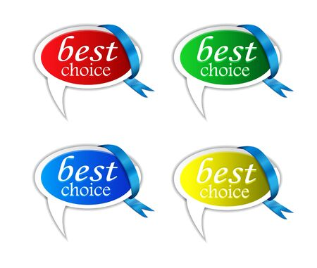 speech buble: Best Choice buble speech With Ribbon