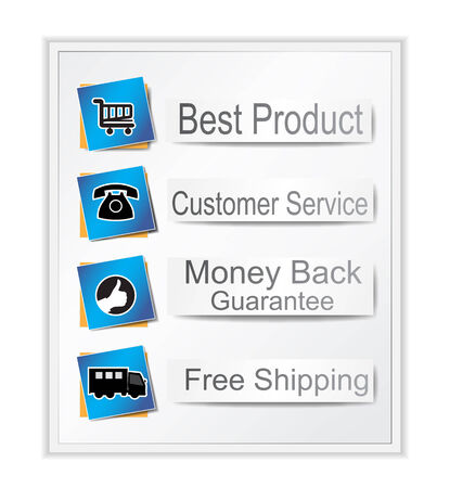 Web banner with text and icons Vector